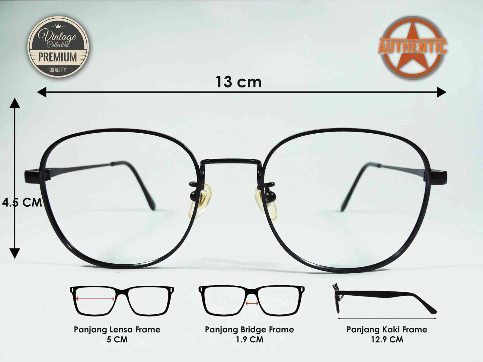 Kacamata Vintage Bulat Jadul Antik Classic Original SAFARI ROUND BLACK 354b6ffc83