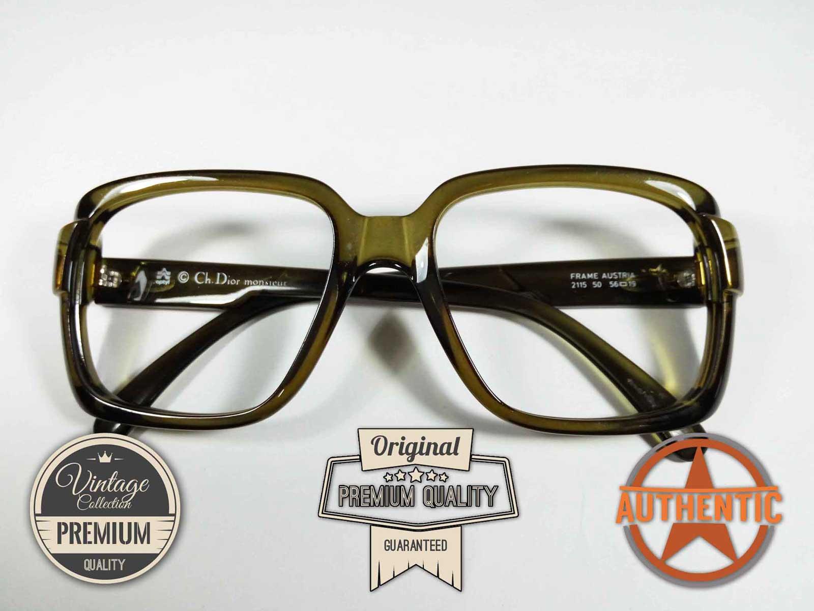 Kacamata Vintage SQUARE KOTAK Jadul Antik Classic Original CHRISTIAN DIOR  MONSIEUR 2116 GREEN 122feadc74