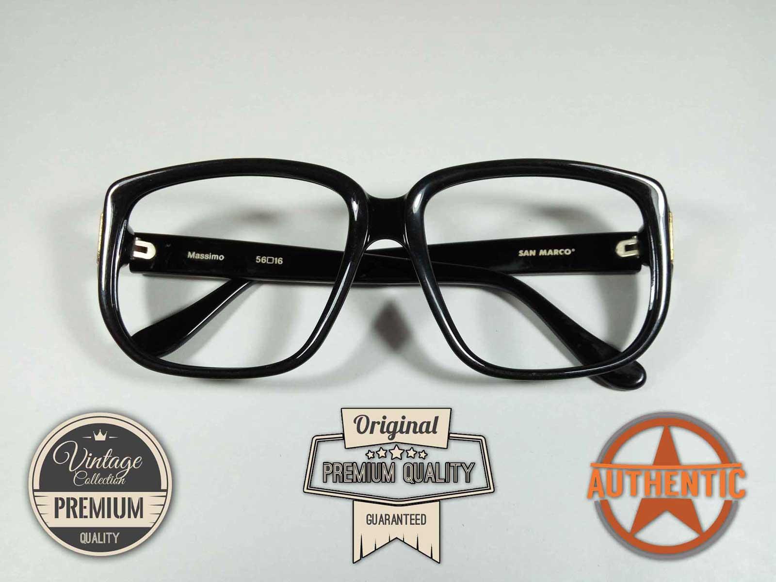 Kacamata Vintage SQUARE KOTAK Jadul Antik Classic Original SANMARCO MASSIMO  310 BLACK 1f9a0f7f2f